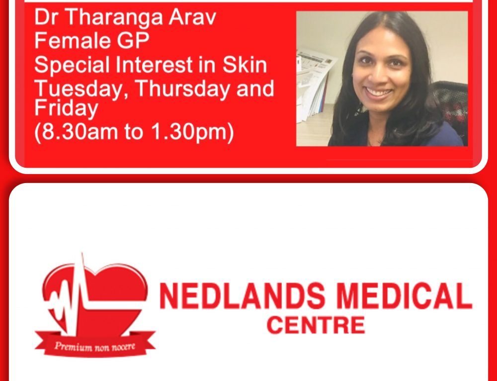 A New Doctor has arrived at Nedlands Medical Centre.