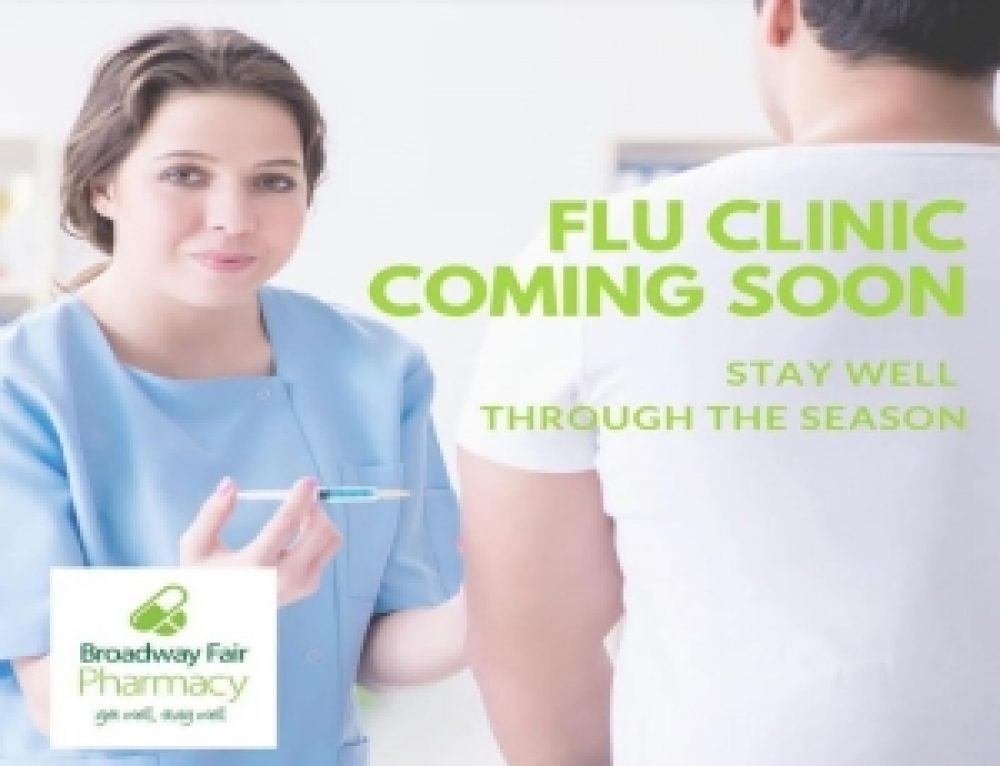 Flu Clinic coming soon to Broadway Fair Pharmacy.
